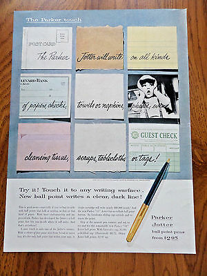 1955 Parker Jotter Ball Point Pens Ad