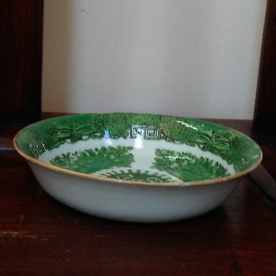 """Rare Green Fitzhugh Pattern Chinese Export Porcelain Small Bowl/Dish 5""""-19th C"""