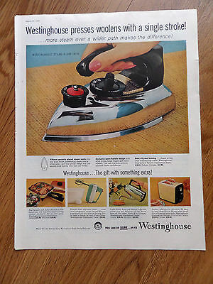 1958 Westinghouse Ad Steam-N-Dry Iron