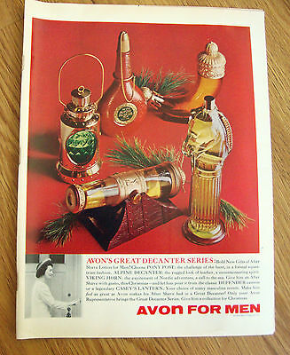 1966  Avon for Men Ad Great Decanter Series