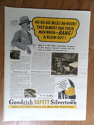 1937 Goodrich Silvertowns Tires Ad  Blow Out