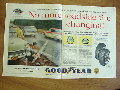 1958 Goodyear Ad Buick Dodge Chrysler Ford Chevy Autos ?