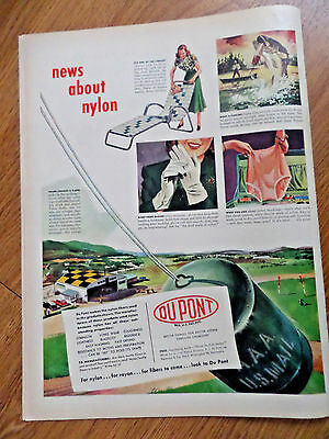 1948 DuPont Nylon Ad News About Nylon