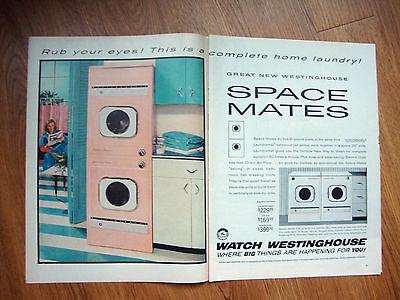 1956 Westinghouse Space Mates Whasher Dryer Ad