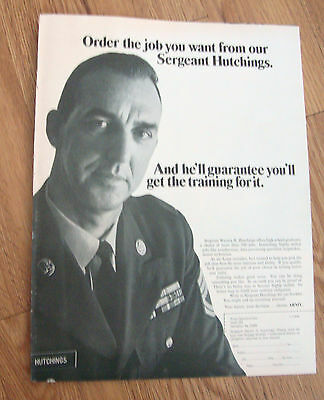 1968 Army Recruiting Ad  Order the Job you want from our Sergeant Hutchings