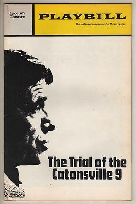 """Playbill """"The Trial of The Catonsville 9"""" 1971 Daniel Berrigan"""