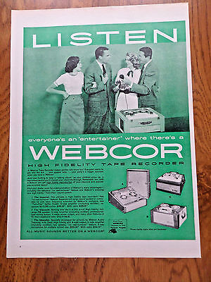 1957 Webcor High Fidelity Tape Recorder Ad