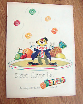 1950 Life Savers Candy Ad  5-Star Flavor Hit    Circus Clown