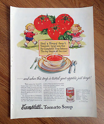 1937 Campbell's Tomato Soup Ad  the Campbell Kids