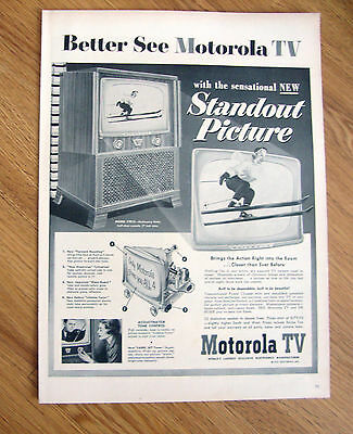 1952 TV Television Ad  Standout Picture