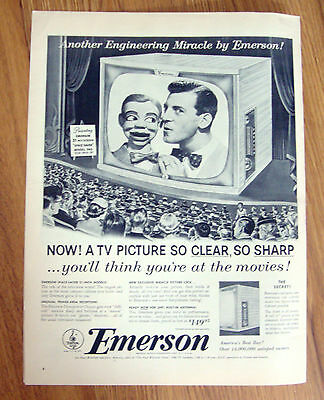 1953 Emerson TV Television Ad Space Saver Model 740