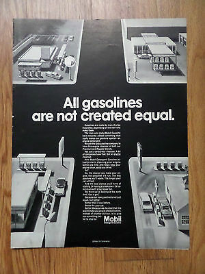 1968 Mobil Gas Ad  All Gasolines are Not Created Equal