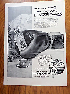 1953 Texaco Oil Gas Ad Packs more Punch Sky Chief