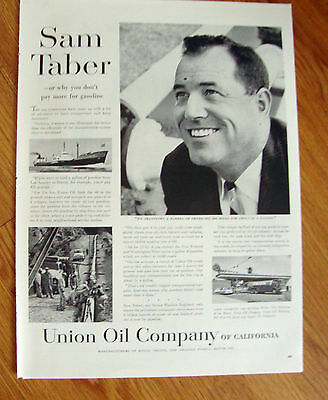 1957  Union Oil 76 Ad  Sam Taber