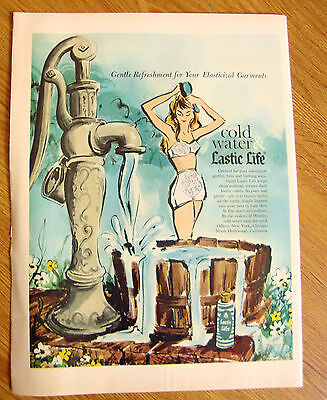 1960 Cold Water Lastic Life Ad Bra Girdle