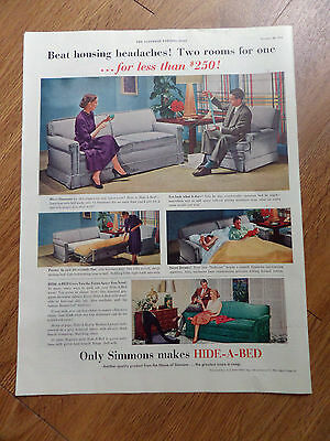 1951 Simmons Hide A Bed Ad