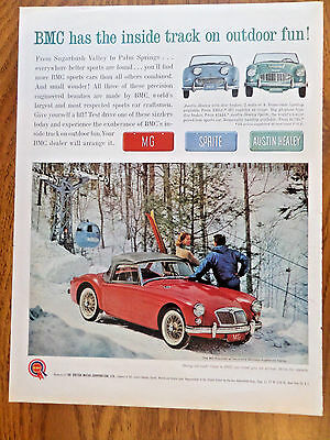 1961 MG Roadster at Vermont's Sugarbush Valley 1961 Bell Western Telephone Ad