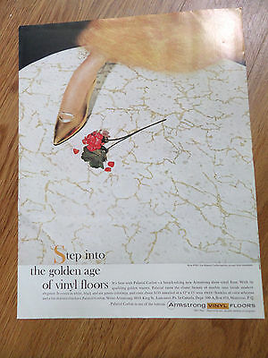 1960 Armstrong's Vinyl Floors Ad Palatial Corlon Step into the Golden Age