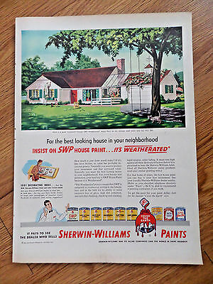 1951 Sherwin-Williams Dealer House Paint Ad