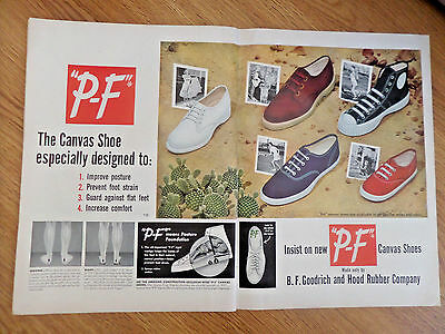 1950  P-F Canvas Shoes Ad  Especially Designed to