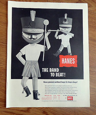 1957 Hanes Underwear Ad  The Band to Beat