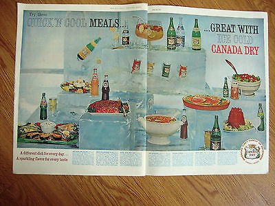 1961 Canada Dry Soda Ad Quick 'n Cool Meals with Ice Cold Canadra Dry