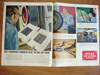 1958 Atlas Tires Ad Fingerprint Hundreds to get the One They Want