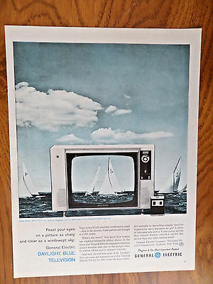 1960 G E General Electric TV Ad Daylight Blue R610 VVY