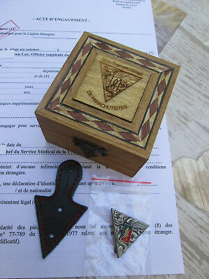 French Foreign Legion badge 2 REP current  2017 yr  + BOX wooden+gift