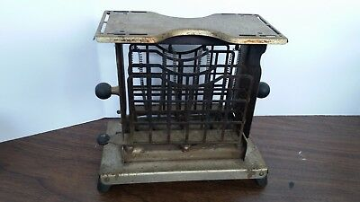 Vintage 1927 Torrid Toaster With Swing Out Bread Holders