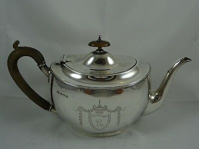 SMART solid silver TEA POT, 1913, 594gm