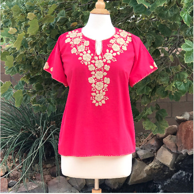 Size S-M Mexican embroidered blouse Handmade blouse Floral blouse Bohemian  style