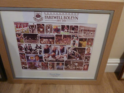 "West Ham signed print ""Farewell Boleyn"""