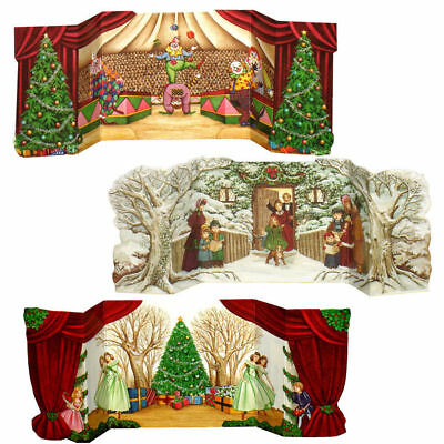 33   Circus, Ballet & Carol Singers - 3 Fabulous Pull Out Christmas Gift Cards