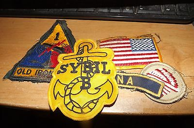 Lot of Five Assorted Patches --incl Anchor patch Sybil 3