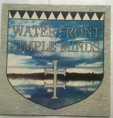 """Simple Minds - Waterfront - Virgin Records 12"""" Single VS 636 12 EX/VG+"""