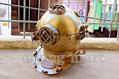 "Antique 18"" US Navy Diving helmet Mark V Deep Sca Vintage Divers Helmet  Replica"