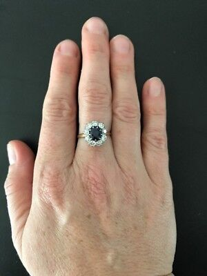 Antique Victorian Sapphire And Old Mine Cut Diamond Ring