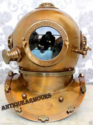 Antique Diving Helmet 1921Anchor Engineering US Navy Scuba Divers Helmet Replica