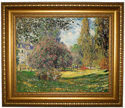 Monet The Park Framed Canvas Print Repro 16x20