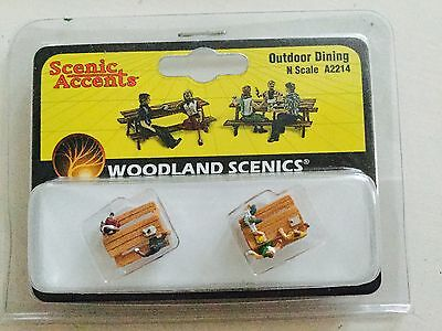 Woodland Scenics Accents 1/160 N Scale Outdoor Dining Item #A2214 Factory Sealed