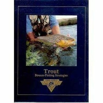 TROUT STREAM FISHING STRATEGIES Hardcover Book Fly Rod Reel Net Vest NEW NR!!