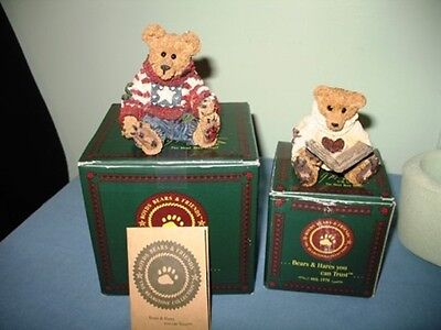 1993 Boyds Bearstone Collection Bears-Eddie & Wilson-Numbered-In Original Boxes!