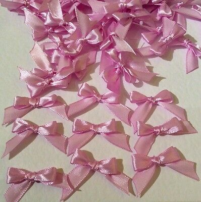50 Pretty Pale Pink 10mm Ribbon bows 🎀 for card making/scrap booking -charity