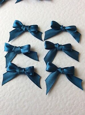 20 Blue 10mm Ribbon bows 🎀 for card making/scrap booking help charity
