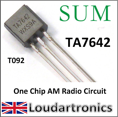 SUM TA7642  Single Chip Radio Circuit (MK484 ZN414)