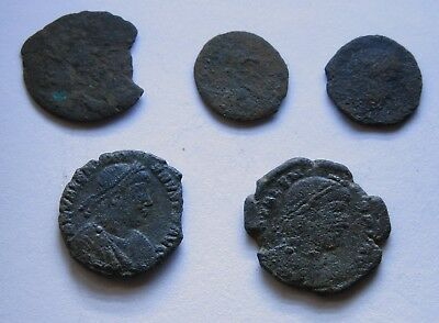 Genuine Roman Coin Collection Joblot x5/Set Uncleaned Grades
