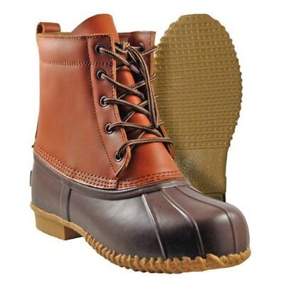 Cold Front ELY 5 EYE Mens Brown Leather Waterproof Rubber Insulated Duck Boots