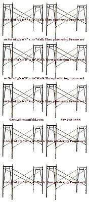 "10 SET of 3' X 6'8"" X 10' Plastering Masonry Scaffold Frame Set CBMscaffoldcom"