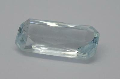*Beautiful 3.8ct Aquamarine  Blue Faceted Fancy Emerald Cut Gemstone*